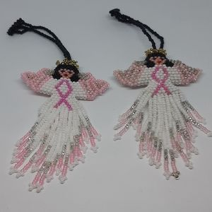 Cancer Awareness Beadwork Angel's